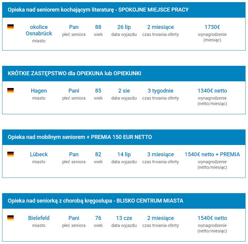 Oferty pracy dla Opiekunek w Niemczech   ATERIMA MED Oferty pracy